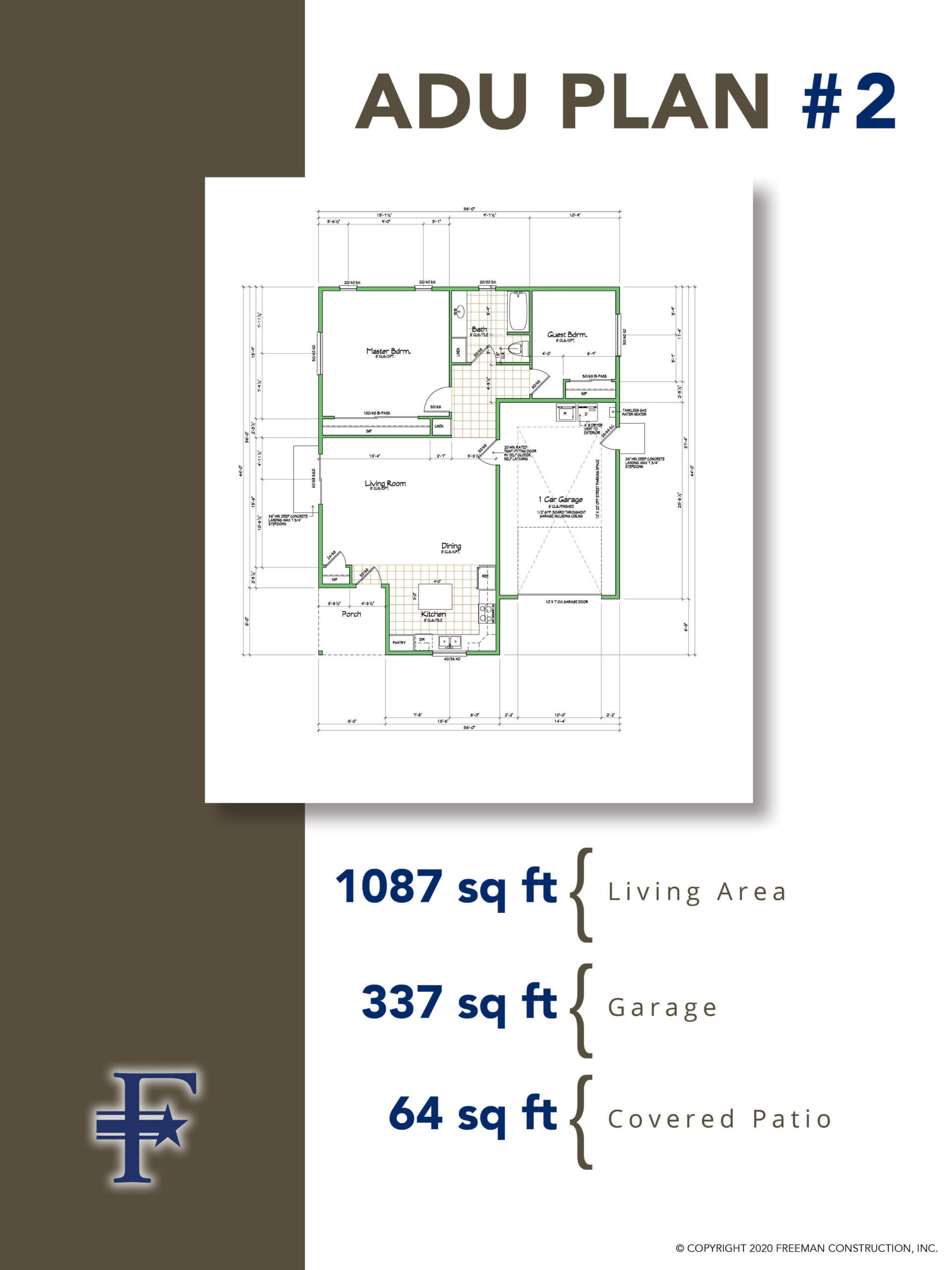 Popular Accessory Dwelling Unit Floor Plans Freemans Construction Inc